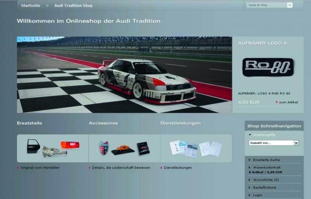 Audi richtet Onlineshop für alte Ersatzteile ein