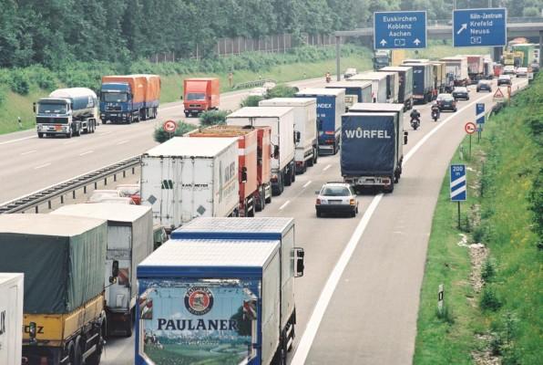 Beförderungsmengen deutscher Lkws nimmt zu