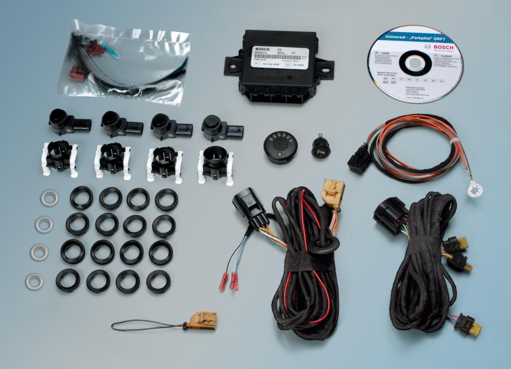 Die kompletten Einbausets und detaillierten Montageanleitungen erleichtern der Werkstatt den Einbau der neuen Bosch-Parkpiloten URF7.