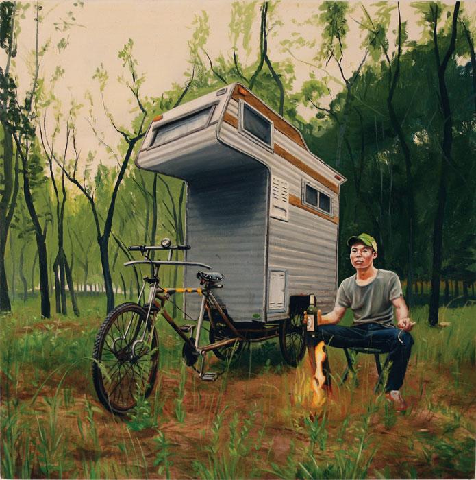 Für Kevin Syr ist sein Camper-Bike eine Skulptur, Bild von: www.kevinsyr.net