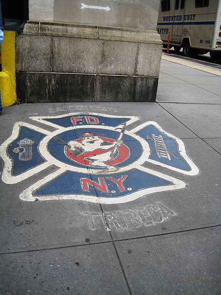 Ghostbusters-Logo in den Straßen von New York