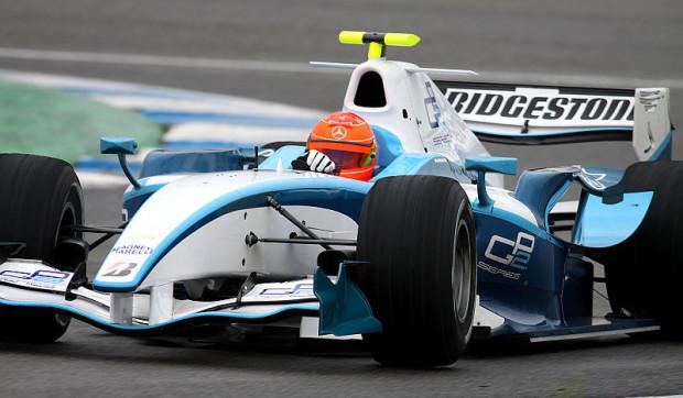 Michael Schumacher beginnt GP2-Test: Nicht optimale Bedingungen
