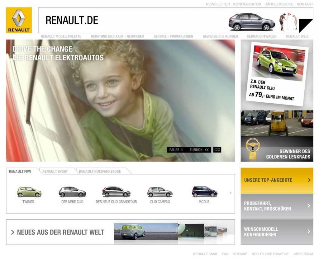 Renault gestaltet Internetauftritt neu