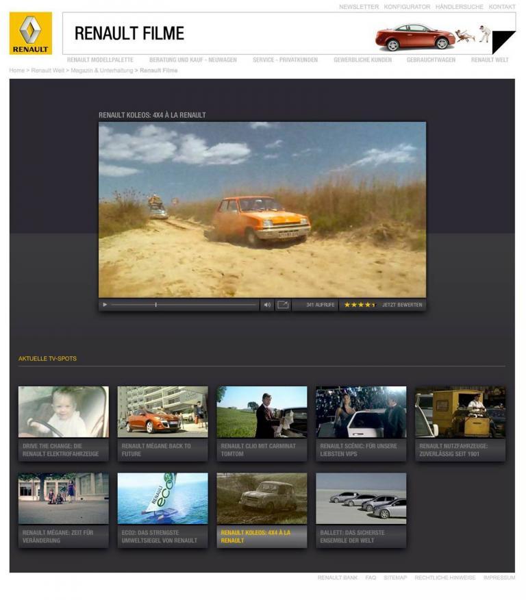Renault hat seinen Internetauftritt neu gestaltet.