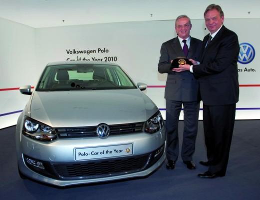 Volkswagen erhält ''Car of the Year 2010''-Award