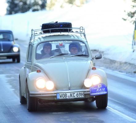 Volkswagen nimmt mit Käfer am ''Winter Trial'' teil