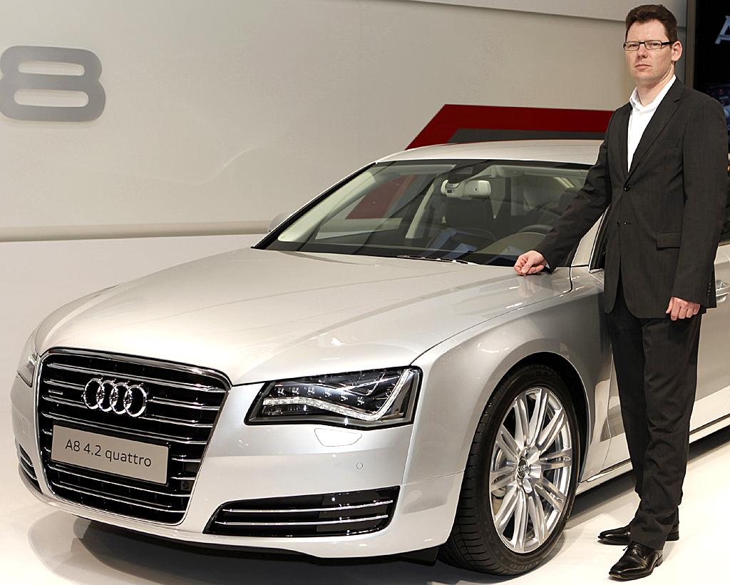 Audis A8-Produktmarketing-Mann: Mischa Ehlers.