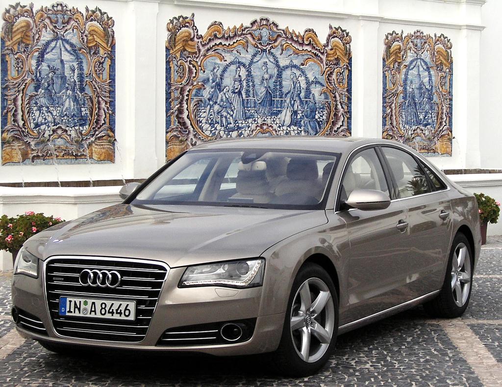 Audis neuer A8: Bei der Vorstellung im südspanischen Casares.