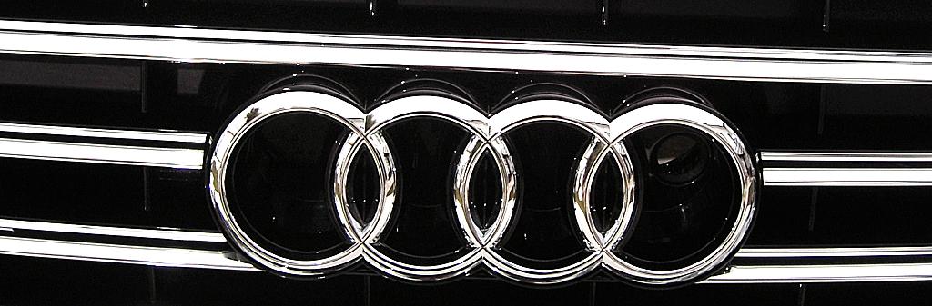 Audis neuer A8: Kühlergrill mit vier Audi-Ringen.