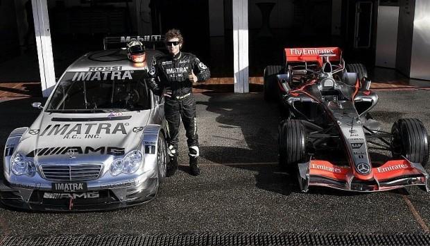 Coulthards Vorgänger: Räikkönen, Rossi & Hill: DTM-Test als Spaßgarant