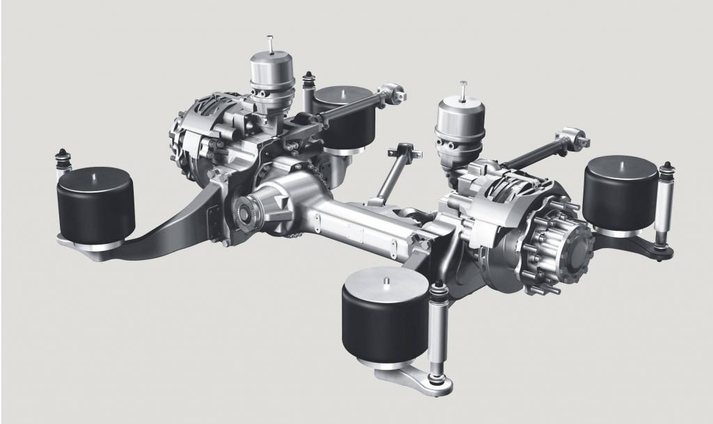 Die Konstruktion der ZF-Portalachse AV 132 erlaubt dem Bushersteller mehr Gestaltungsfreiheit im Bezug auf Bauraum und Fahrgastraum.