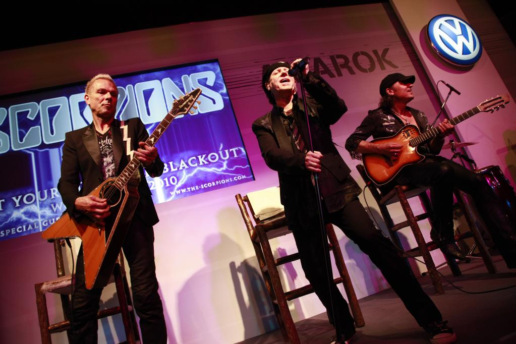 """Die """"Scorpions"""" bei ihrem Auftritt in San Carlos de Bariloche."""