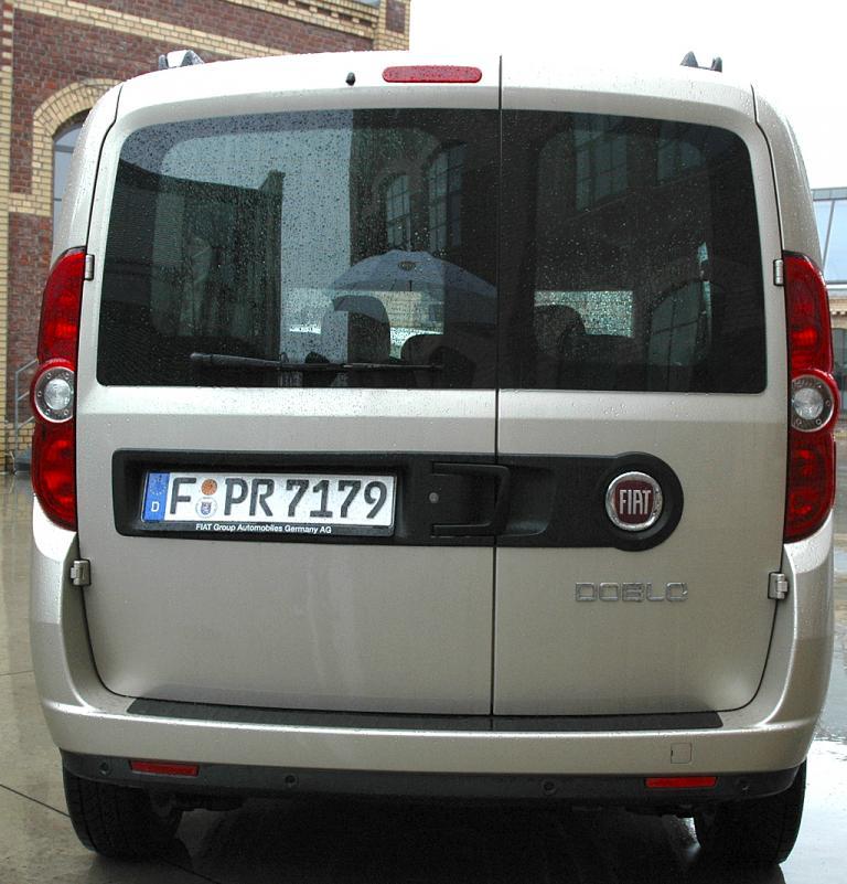 Fiat Doblò: Heckansicht.