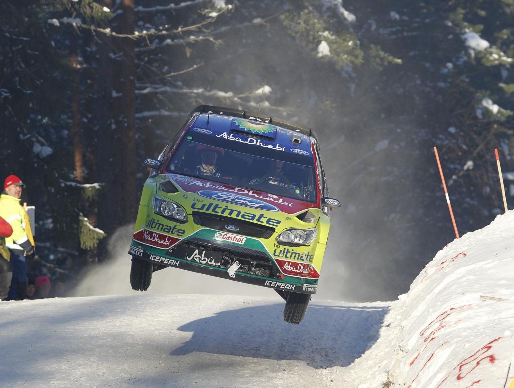 Ford Focus RS bei der Schweden-Rallye 2010.