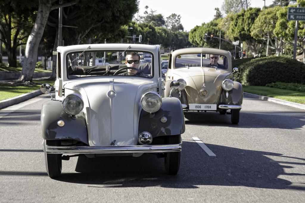 Heckmotor bei Mercedes-Benz: Mercedes-Benz Heckmotorwagen 130, Baureihe W 23, 1934 bis 1936 und 170 H, Baureihe W 28, 1936 bis 1939 (von links nach rechts).