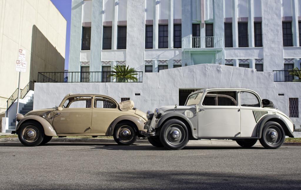 Heckmotor bei Mercedes-Benz: Mercedes-Benz Heckmotorwagen 170 H, Baureihe W 28, 1936 bis 1939 und 130, Baureihe W 23, 1934 bis 1936 (von links nach rechts).