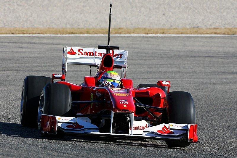 Massa Schnellster am 1. Testtag: Michael Schumacher gibt Gas