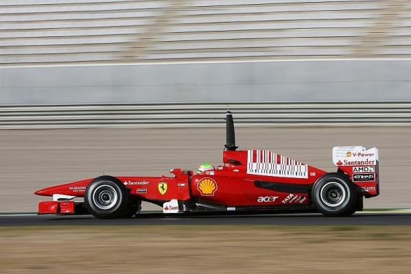 Massa wieder Schnellster in Valencia: Zweiter Testtag des Jahres