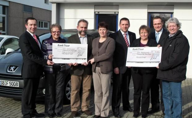 Peugeot-Mitarbeiter halfen mit Spenden im Wert von über 18 000 Euro