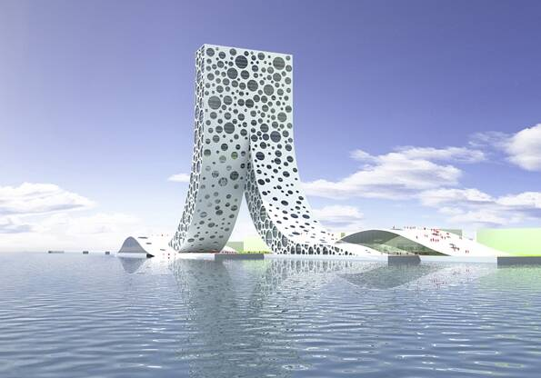 REN - People's Building Shanghai, geplante Vollendung 2010 von BIG.