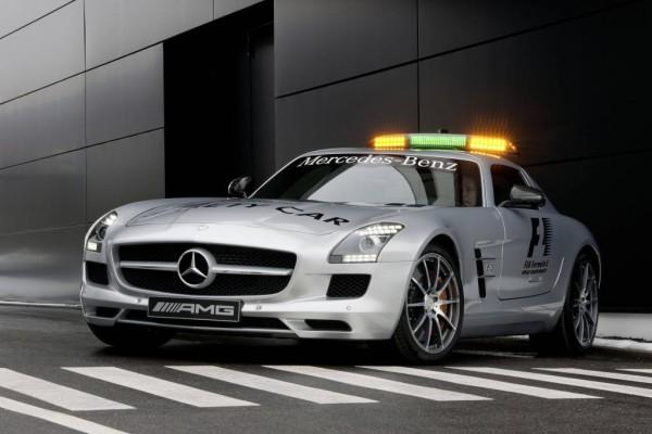 Stets der Formel-1 voraus: Mercedes-Benz SLS AMG