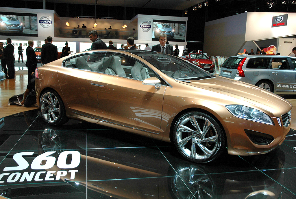 Volvo S60: Schon als Konzeptauto sah er überaus sportlich aus. Foto: Koch/Volvo