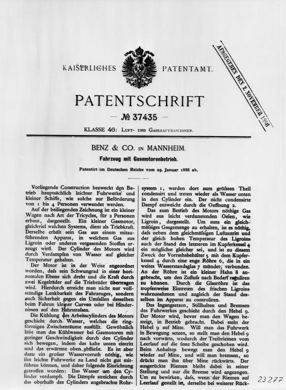29.01.1886 Patentschrift