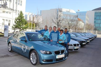 BMW-Modelle im Rahmen der Münchner Olympia-Bewerbung unterwegs