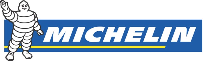 Das Michelin-Männchen Bibendum soll den Unterschied zeigen