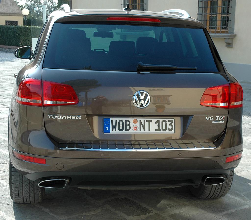 Der neue VW-Touareg: Heckansicht.