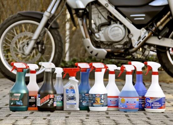 GTÜ testete elf Motorradreiniger