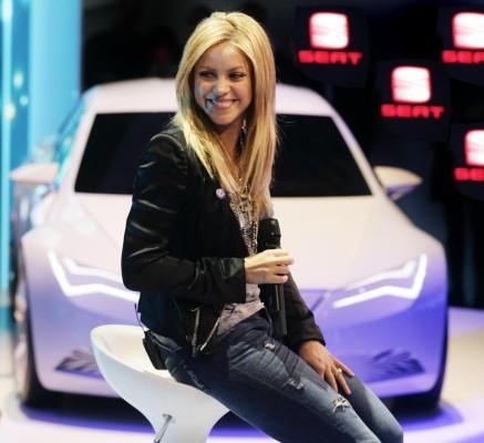 Genf 2010: Shakira sang bei Seat