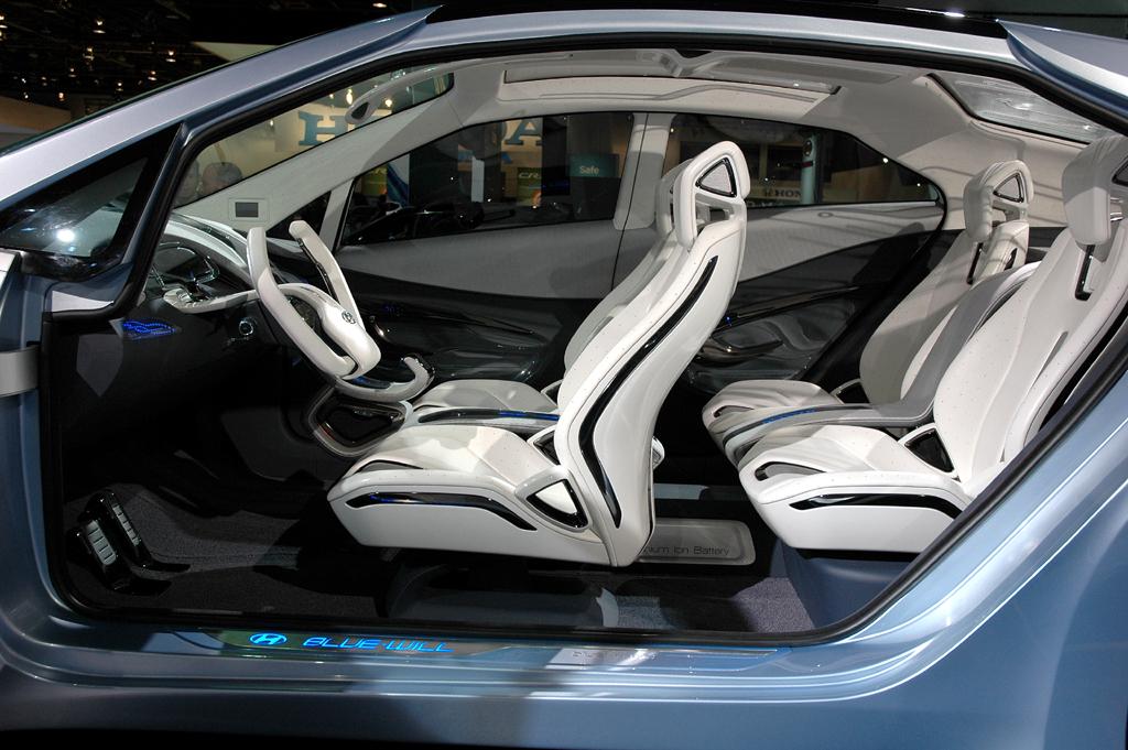 In Detroit vorgestellt: Hyundai-Elektrostudie Blue Will, Innenraum.