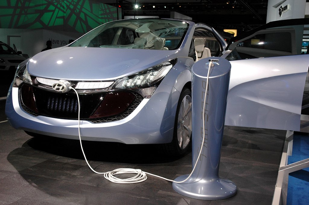 In Detroit vorgestellt: Hyundai-Elektrostudie Blue Will.