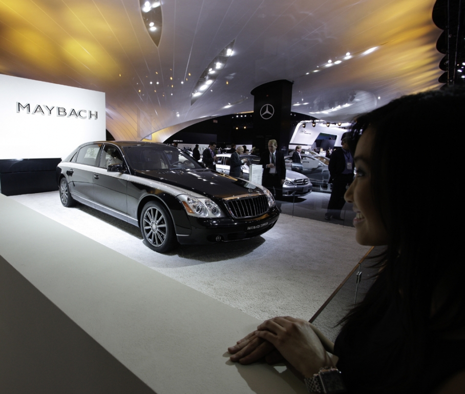 Maybach-Limousine bei der Autoschau in Detroit zu Beginn des Jahres.