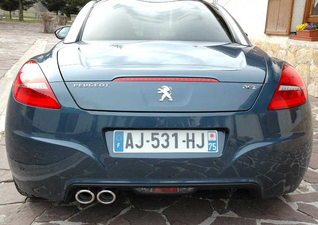 Peugeots neues RCZ-Sportcoupé: Heckansicht.