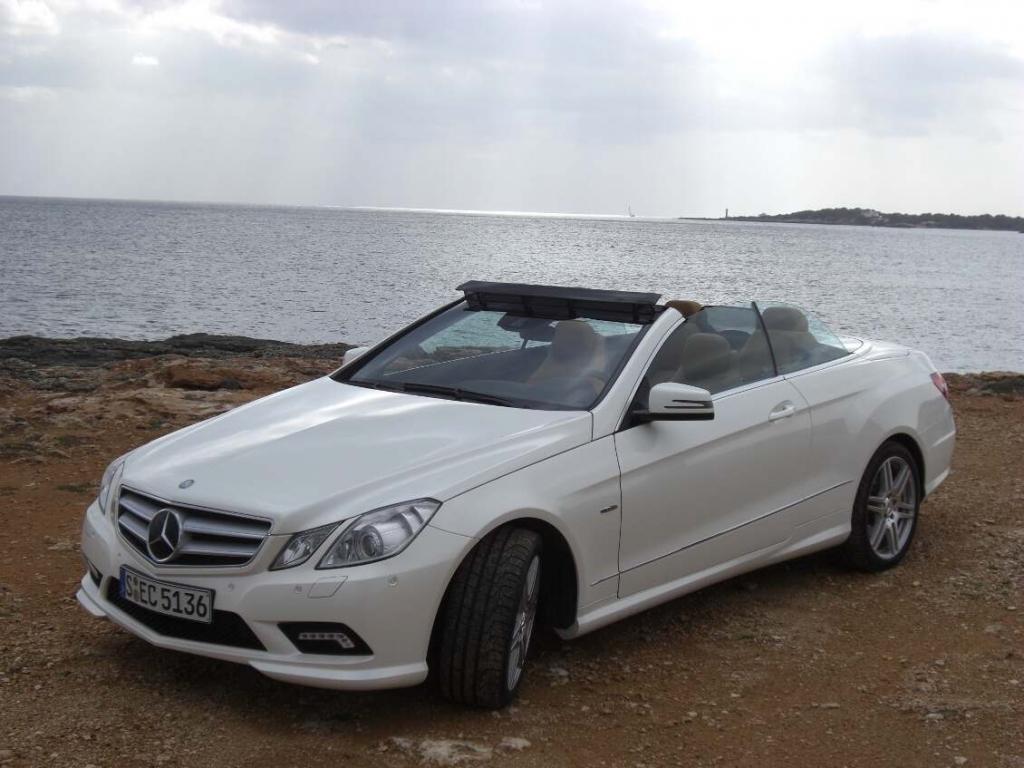 Pressevorstellung Mercedes-Benz E-Klasse Carbiolet: Warmluftsee im Auge des Sturms