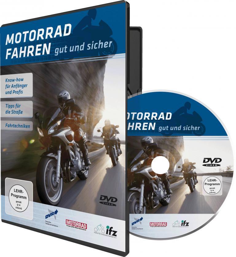 Zweistündige DVD: ''Motorradfahren – gut und sicher''