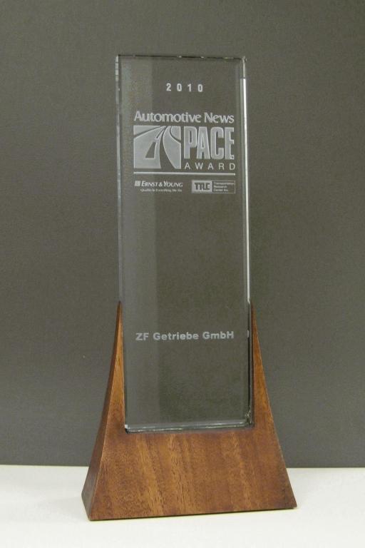 8-Gang-Automatgetriebe von ZF mit PACE Award 2010 geehrt