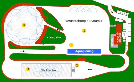 ADAC-Fahrsicherheitszentrum Leipzig – Halle: Geländeplan