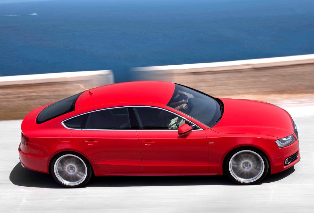 Audi A5 Sportback: Aus der Draufsicht-Perspektive.