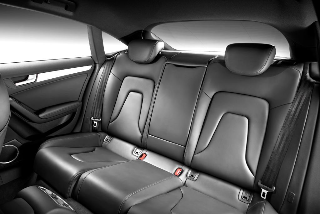 Audi A5 Sportback: Blick in den Fond des Viersitzers.