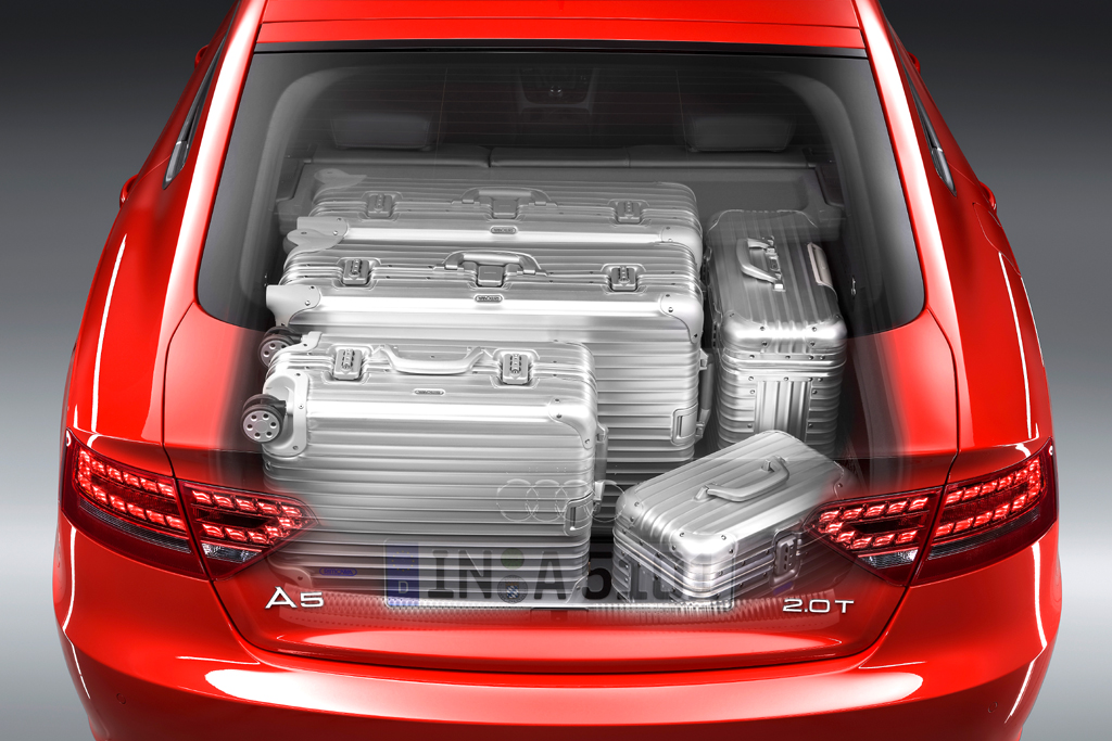 Audi A5 Sportback: Blick in den Kofferraum.