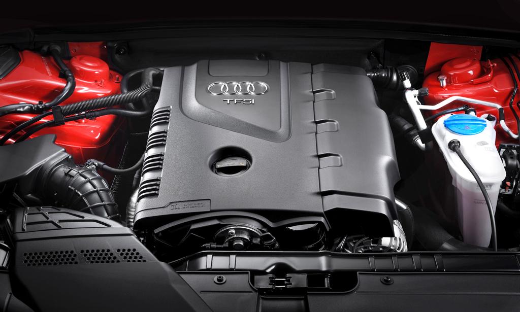 Audi A5 Sportback: Blick in den Motorraum, hier allerdings in den des TFSI.