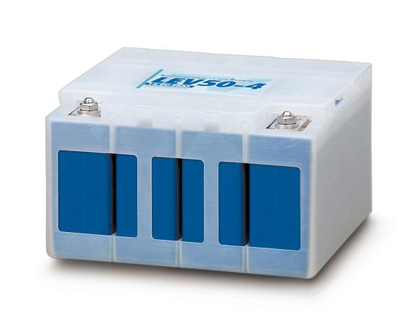 Batteriemodul mit vier Zellen für den Mitsubishi i-MiEV. 22 Stück ergeben das komplette Stromspeicherpaket.