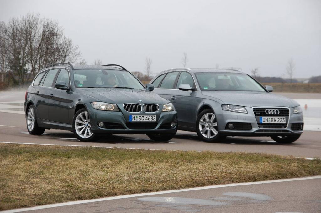 Bayernduell: Audi A4 2.0 T Quattro vs. BMW 325i Touring im auto.de-Vergleichstest