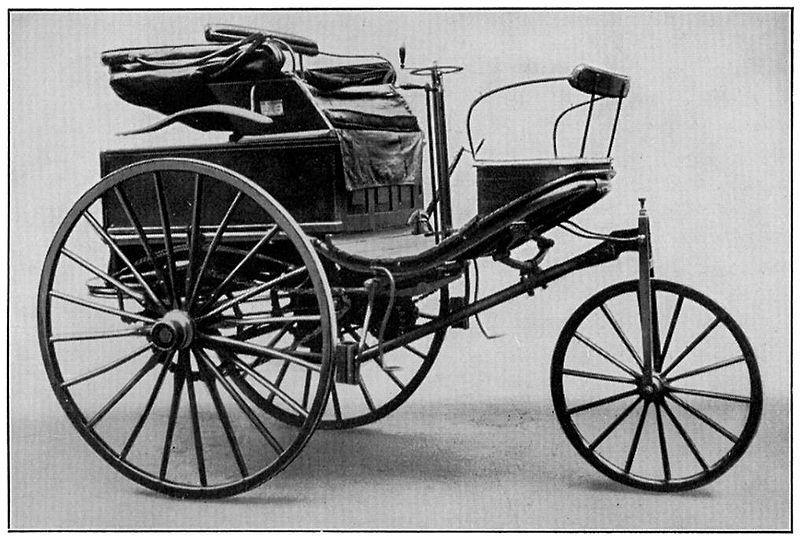 Benz-Patent-Motorwagen Nr. 3, mit dem Bertha Benz 1888 von Mannheim nach Pforzheim fuhr.