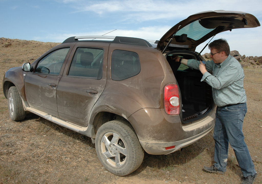 Dacia Duster: Bei geöffneter Kofferraum-Klappe.