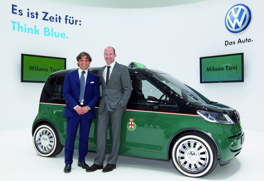 Hannover Messe 2010: Weltpremiere des Milano Taxi bei Volkswagen