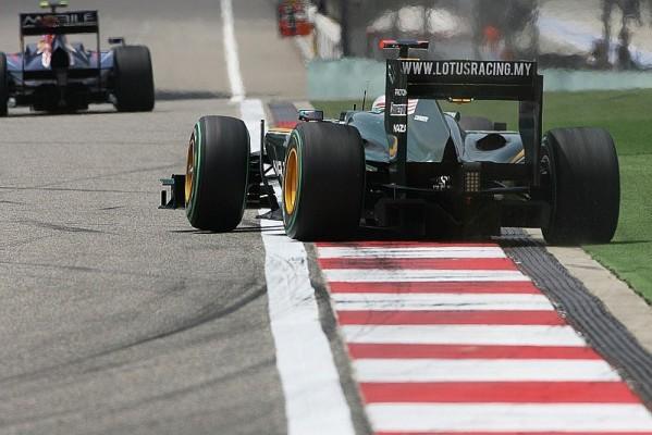 Lotus-Fahrer hatte mit dem Wind Probleme: Glock war zu packen